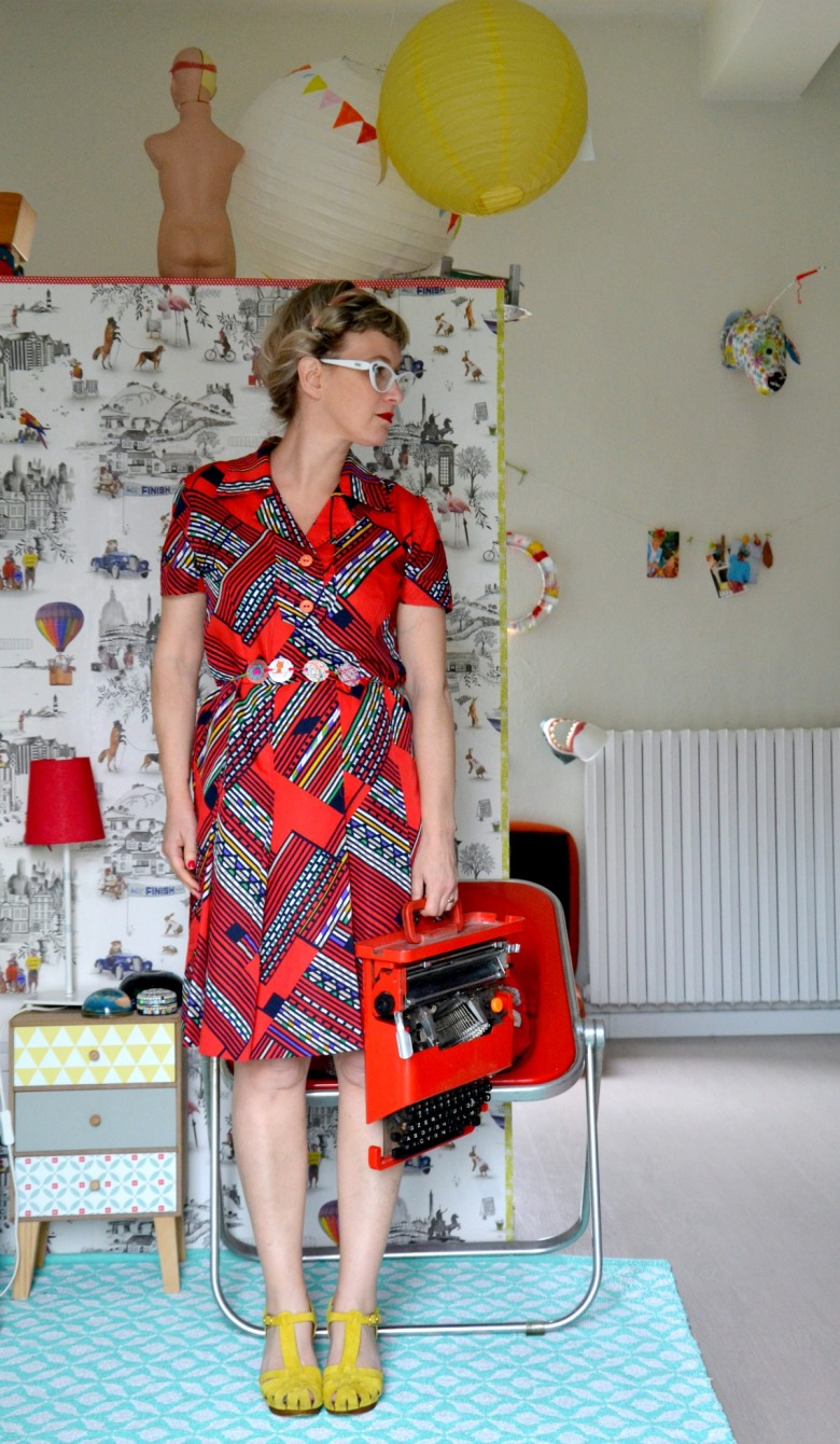 abito rosso vintage